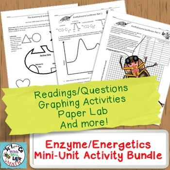 Enzymes Mini-Unit: Worksheets, Graphing Activities, and Pa