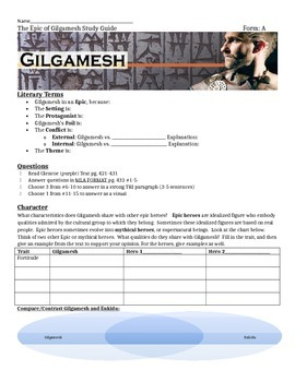 Epic of Gilgamesh Study Guide