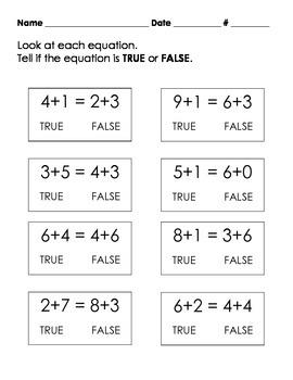 Equal Equations 1.OA.7