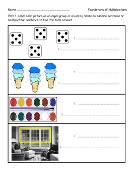 Equal Groups, Arrays, Odd/Evens Test - 2nd Grade Common Co