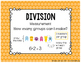 Equal Groups Multiplication and Division Task Cards & Less