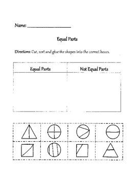 Equal Parts Fraction Sort