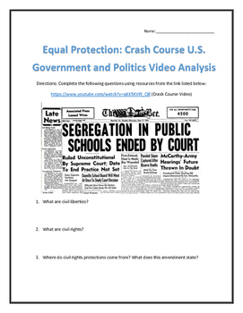 Equal Protection: Crash Course U.S. Government and Politic