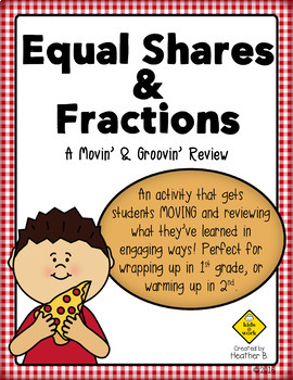Equal Shares and Fractions Math Review Activity for First