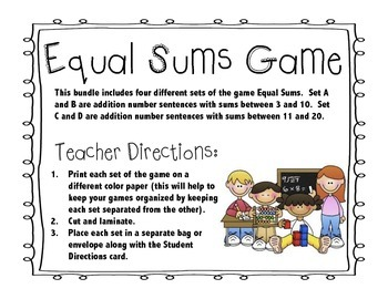 Equal Sums Game