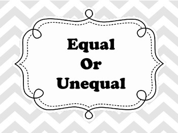 Equal and Unequal