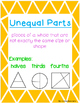 Equal and Unequal Parts Foldable and Activities