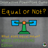 Equal or Not? Meaning of Equal Sign Interactive Game with