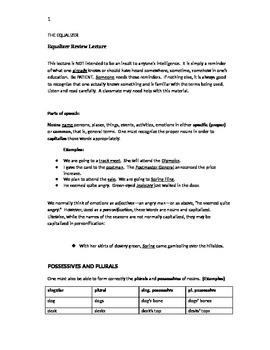 Equalizer for Basic Grammar
