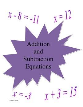 Equation File Folder Set