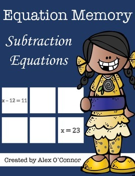 Equation Memory: Subtraction Equations
