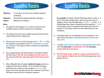 Equation Rumble Game