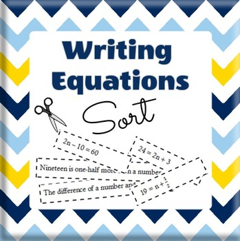 Equation Sort - Translating Words into Equations