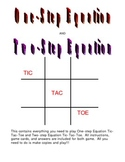Equation Tic-Tac-Toe Games