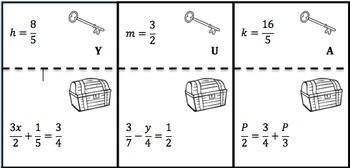 Equation Treasure Hunt !