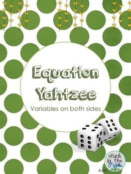 Equation Yahtzee:  Variables on Both Sides