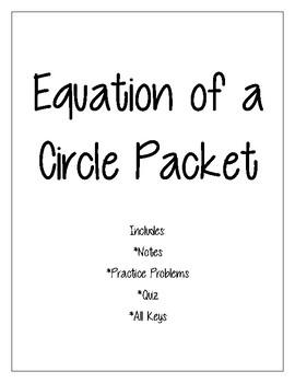 Equation of a Circle Packet