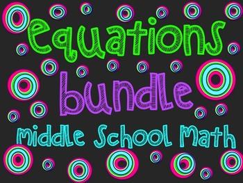 Equations Bundle ~  Middle School Math