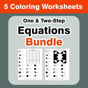Equations Coloring Worksheets Bundle