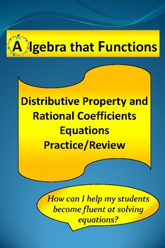 Equations Distributive Property, Rational Coefficients Pra