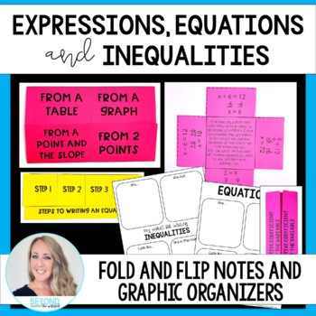 Equations, Expressions and Inequalities Fold and Flip Notes
