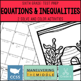 6th Grade Math Test Prep Equations & Inequalities