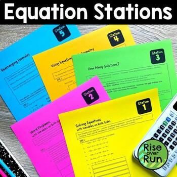 Equations Math Centers