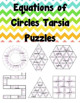 Equations of Circles Tarsia Puzzles