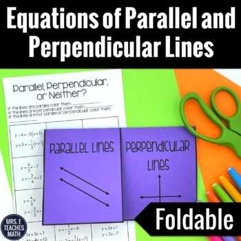 Parallel and Perpendicular Lines Equations Foldable