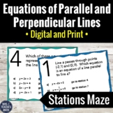Equations of Parallel and Perpendicular Lines Stations Maz