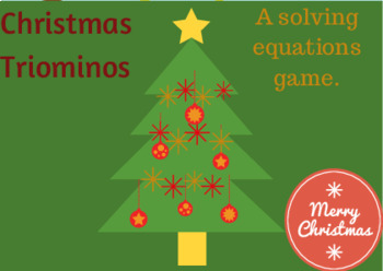 Equations with Triominos Christmas Tree