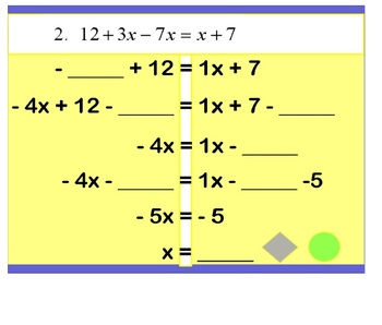 Equations with Variables on Both Sides Skeleton Promethean Notes