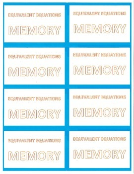 Equivalent Equations: MEMORY