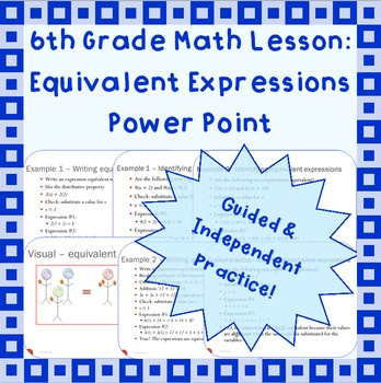 Equivalent Expressions - A Power Point Lesson