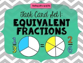 Equivalent Fraction Action (Task Card Set 1)