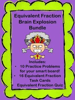 Equivalent Fraction Brain Explosion Bundle