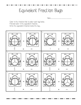 Equivalent Fraction Bugs