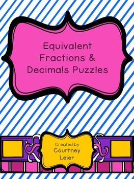 Equivalent Fraction & Decimal Puzzles