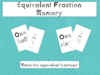 Equivalent Fraction Memory