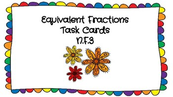 Equivalent Fraction Model Task Cards