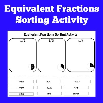 Equivalent Fractions Activity | Fractions Activity | Fract