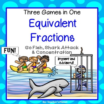 Fraction Games - 3 Equivalent Fun Fraction Games!