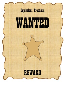 Equivalent Fractions Are Wanted : Bulletin Board Activity/