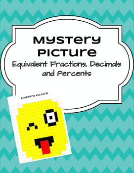 Equivalent Fractions, Decimals and Percents - Mystery Pict