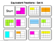 Equivalent Fractions Dominoes Game Math CCSS
