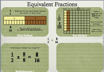 Fractions: Equivalent Fractions: Finding missing part: MAC