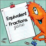 Equivalent Fractions Game (File Folder)