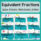 Equivalent Fractions: Game, Vocabulary, and More- Common C