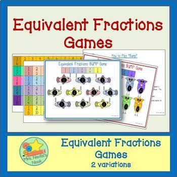 Equivalent Fractions Games - Two Variations & Visual Chart