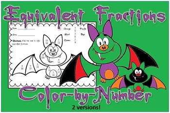 Equivalent Fractions- Halloween Color by Number